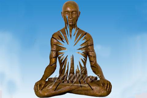 Abstract bronze man statue indoor statue