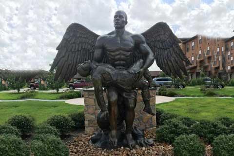 Brave design Outdoor Angel Sculpture for Garden Decor