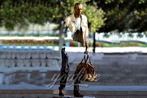Famous Bruno Catalano Bronze Traveller Sculpture