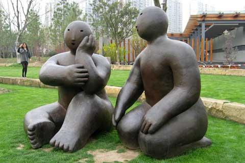Garden design Decorative Bronze Abstract Figures Sculpture on Sale