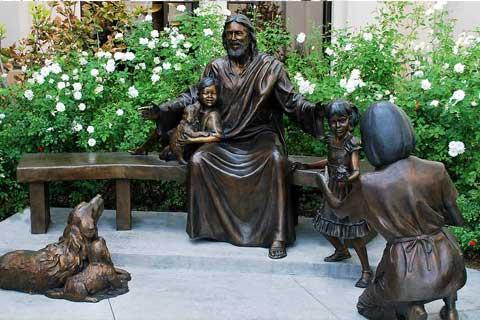 Happy Family design Bronze Sculptures for Garden& Yard Decoration
