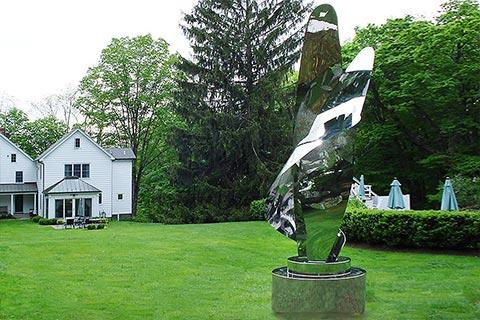 Modern artwork Mirror polished stainless steel sculptures