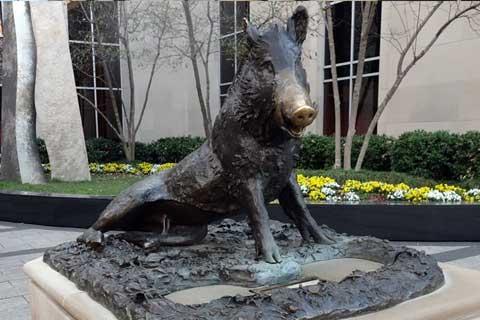 New Design outdoor Casting Bronze Wild Pig Sculpture for Garden Decor