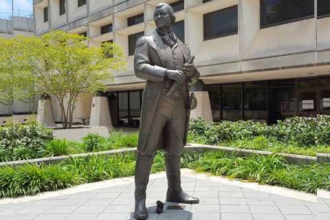 Standing design Outdoor Street Metal Bronze Statue for Street Decor
