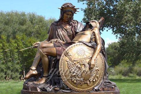 Western Style design Outdoor Garden Decoration Metal Craft Bronze Statue for Sale