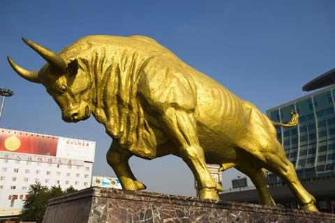 Wholesale Sale design Outdoor Decorative Bronze Bull for Outdoor Decor