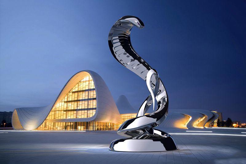 stainless-steel-snake-sculpture